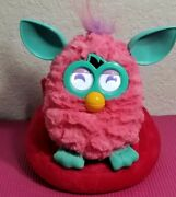 2012 Furby Pink And Teal Hasbro Electronic Talking Interactive Toy With Couch