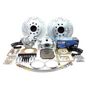 For Chevy Impala 65-70 Legend Series Drilled And Slotted Brake Conversion Kit