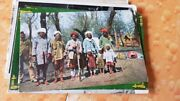4 Old Vintage Peoples Color Picture Post Cards From India 1920