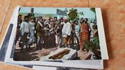 8 Old Vintage Tibetians Peoples Color Picture Post Cards From India 1920