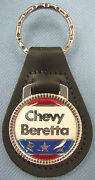 Red/white/blue Chevy Beretta Black Leather Keyring 1987 1988 1989 1990 1991