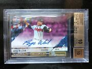 Bryse Wilson 2018 Topps Now Call-up Rc On-card Auto 'd/25 Braves Bgs 10 Pop 1
