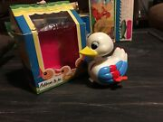Dizzy Duckling - Fun To Watch This Antique Wind Up Toys - First Plastic Toy