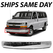 New Steel Chrome Front Bumper Face Bar For 2003-2020 Chevy Express And Gmc Savana