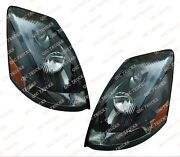 Qsc Black Headlights Headlamps Assembly Left And Right Pair For Volvo Vnl 04-17