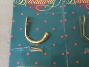Broadway Collection 12.10001.605, Coat/hat Single Hook, Solid Brass