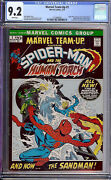 Marvel Team-up 1 Cgc 9.2 1972 Spider-man Avengers White Pages H9 121 Cm Clean