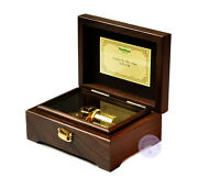 Play Castle In The Sky 23 Note Wooden Music Box With Sankyo Musical Movement