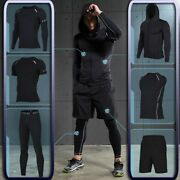 Menand039s Gym Active Wear Training Fitness Sportswear Black Athletic Tracksuit