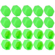 20x Green Car Wheel Nut Lug Dust Cover Cap Protector Tyre Bolt Hub Screw Cap