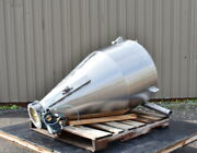 110 Gallon Stainless Steel Hopper/cylcone, Sanitary