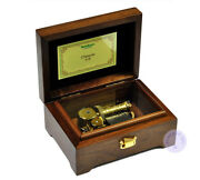 Play Castle In The Sky 30 Note Wooden Music Box With Sankyo Musical Movement