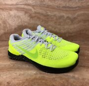 Nike Metcon Dsx Flyknit Cross Trainer Gym Shoes Gray Platinum Volt