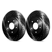 For Mazda Mx-5 16-17 Chrome Brakes Drilled And Slotted 1-piece Rear Brake Rotors