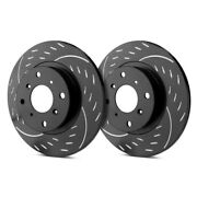 For Mazda Cx-9 07-15 Diamond Slot Dimpled And Slotted 1-piece Front Brake Rotors