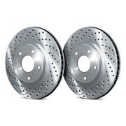 For Ford Mustang 16-18 Chrome Brakes Drilled And Slotted 1-piece Rear Brake Rotors