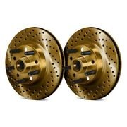 For Dodge Ram 3500 94-99 Brake Rotors Drilled And Slotted 1-piece Front Brake