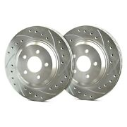 For Bmw X1 13-15 Sp Performance Drilled And Slotted 1-piece Rear Brake Rotors