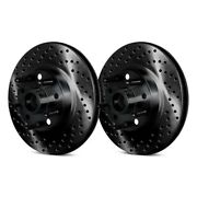 For Ford Mustang Ii 74-78 Brake Rotors Drilled And Slotted 1-piece Front Brake