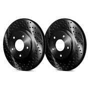 For Pontiac Fiero 88 Chrome Brakes Drilled And Slotted 1-piece Front Brake Rotors