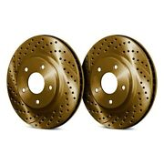 For Mazda Mpv 92-93 Chrome Brakes Drilled And Slotted 1-piece Front Brake Rotors