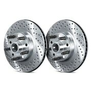 For Chevy Camaro 79-81 Brake Rotors Drilled And Slotted 1-piece Front Brake Rotors