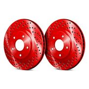 For Chevy Hhr 06-11 Chrome Brakes Drilled And Slotted 1-piece Front Brake Rotors