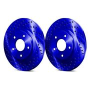 For Mercedes-benz 300cd 78-85 Drilled And Slotted 1-piece Front Brake Rotors