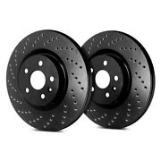 For Lincoln Town Car 03-11 Cross Drilled 1-piece Front Brake Rotors
