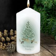Personalised A Winterand039s Night Scene Christmas Candle - Add Message - Xmas Decor