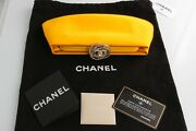 New Yellow Satin Clutch With Tags And Papers