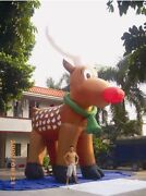 26and039//8m Inflatable Reindeer Christmas Holiday Decoration Most Popular Design A