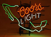 Vintage Coors Neon Light Sign 1999 Mexico Red White Green-beer Bar Man Cave