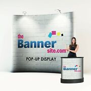 3x3 Popup Exhibition Stand Including Design Lights Carry Case.