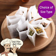 Assorted Sizes Non-woven Empty Teabags Heat Seal Filter Bag Loose Herbs Teabag