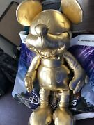 In Hand Disney Store Mickey Mouse Large Plush Gold Collection 90th Anniversary