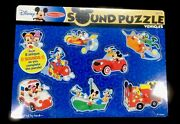 Melissa And Doug Disney Mickey Mouse And Friends Wooden Sound Puzzle 8pc New