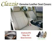 Clazzio Genuine Leather Seat Covers For 2007-10 Chevy Tahoe Beige W/3rd Row Cvr