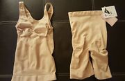 New N-fini Shape M/l High Rise Thigh Short Nude With Long Tummy Control Cami