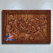 ❤️️nativity Birth Of Jesus✅carved Wood Art Icon Painting Picture Decor Sculpure