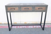 Reclaimed Wood Console Table. Industrial Modern Sofa Table. Storage Table.
