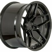 20 Staggered Rohana Rfx11 20x10.5 20x12 Gloss Black Concave Wheels Forged