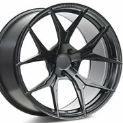 20 Staggered Rohana Rfx5 20x10 20x12 Black Concave Wheels Rims Forged