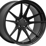20 Staggered Rohana Rf2 20x9 20x12 Black Concave Wheels Rims Forged