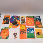 Lot Of 10 Vintage Halloween Greeting Cards Lot 3