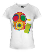 Vibrant Gas Mask Ladies T-shirt Tee Top Gift Mask