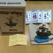 Donald Duck Vintage Antique Wooden Gimmick Toy Spring Figure Disney Young Epoch