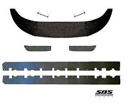 1 Front, 2 Side And 2 Rear Side Splitters + 2 Support Rods 2013-2014 Mustangs