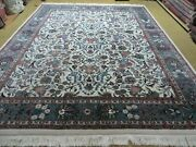 8' X 10' Vintage Hand Made Chinese Oriental Floral Wool Rug Hand Knotted Carpet