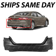 New Primered - Rear Bumper Cover Replacement For 2018 2019 2020 Toyota Camry